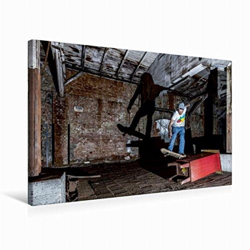 CALVENDO Premium Textil-Leinwand 75 x 50 cm Quer-Format Skaten mit Licht und Schatten, Leinwanddruck von Wenki