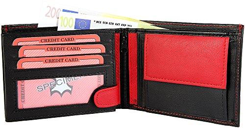 Monopol Herren Geldbörse aus Echtleder, 12 x 9 cm