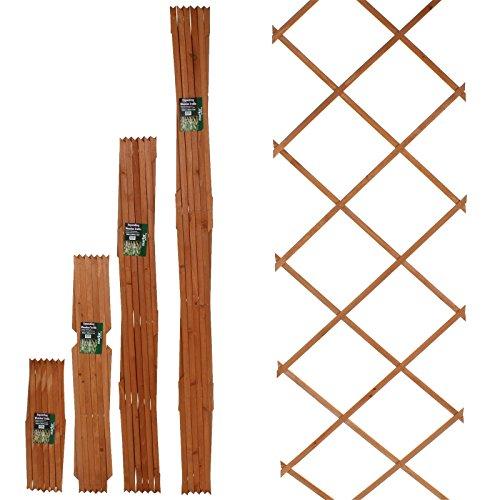 Marko Gardening 6FT Expanding Trellis Wooden Adjustable Expandable Garden Outdoor Climbing Plant (90cm x 180cm (3FT x 6FT))
