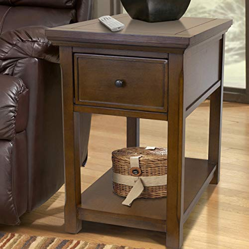 American Furniture Classics concealment end table, brown