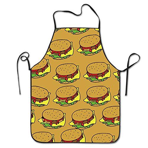 BRIGHT Unisex Hamburger Junk Voedsel Chef&Cook Keuken Bib Schort Waterdicht Perfect voor Koken, Bakken, Crafting, BBQ