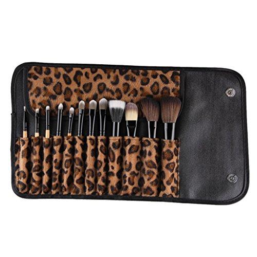 perfeclan Set De Pinceau De Maquillage Professionnel 12 Pièces Kit De Fondation De Fard à Paupières Avec Sac