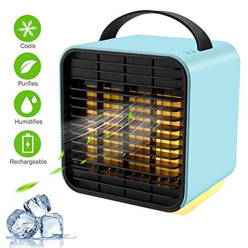 Portable Air Conditioner Fan, TOCOOL Personal Space Air Cooler Desk Fan Mini Evaporative Cooler...