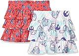 Spotted Zebra Girls' Kids Disney Marvel Frozen Princess Knit Ruffle Scooter Skirts, 2-Pack Star Wars Tie Dye, X-Small