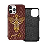Just Bee Meditating Geometric Zen Bee Phone Case Designed for Boys Girls Teens Clear Slim Fit Protective Compatible with iPhone 6 6s 7 8 Plus X XR XS MAX 11 11Pro ProMax 12 Mini Pro Max Case
