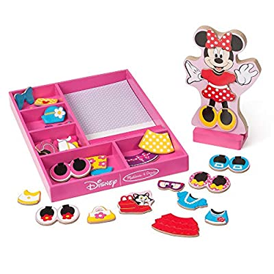 Melissa & Doug Disney Minnie Mouse Magnetic Dress-Up Wooden Doll Pretend Play Set (35+ pcs) from Melissa and Doug