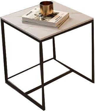 Coffee Table, Nordic Living Room Rock Board Coffee Table, Bedroom Simple Coffee Table, Solid Wood Wrought Iron Coffee Table