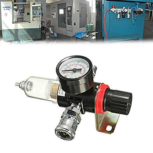 YGMX Druckminderer Druckluft Filter Wasserabscheider 1/4' Druckminderer Wasserabscheider Druckluft Druckminderer Kompressor Druckluftregler Für DruckluftDruckminderer Kompressor,Druckminderer