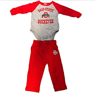 Outerstuff Ohio State Buckeyes Baby 2-Piece Onesie and Pants Set