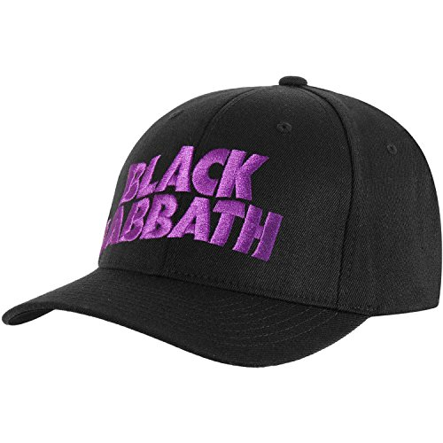 Black Sabbath Men's Demon & Logo Baseball Cap Adjustable Black