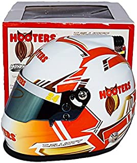 AUTOGRAPHED 2017 Chase Elliott #24 Hooters Racing Team (Hendrick Motorsports) Monster Energy Cup Series Signed Lionel NASCAR Replica Mini Helmet with COA