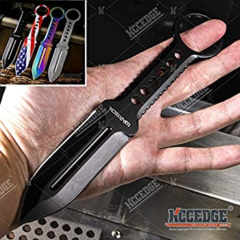 Tactical Knife Hunting Knife Survival Knife Full Tang Fixed Blade Knife Kydex Style Sheath Razor Sharp Edge Camping Accessories Camping Gear Survival Kit Survival Gear Tactical Gear 76209  Black
