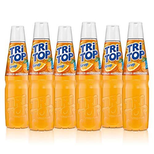 TRi TOP Getränkesirup Orange-Mandarine 6 x 600ml | Sirup für Wassersprudler | 1 Flasche ergibt ca. 5 Liter Erfrischungsgetränk