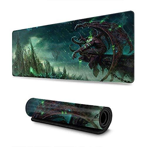 "llidan Stormrage Gaming Mouse Pad World of Warcraft Large Desk Mat XXL 35 x 15/"""