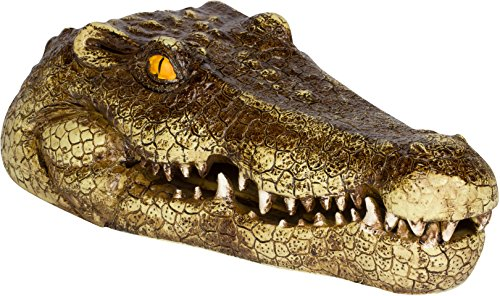 Trademark Innovations 11' Fake Alligator Head Pool Float Blue Heron Decoy for Ponds, and Water Features