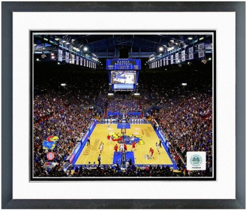 Kansas University Jayhawks NCAA Double Matted Photograph Milestone Collage