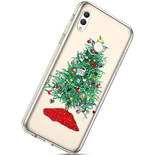 Herbests Coque Silicone pour Huawei Honor Note 10 Housse avec Noël Motif Ultra Mince Clear Transparent Anti Choc Bumper Coque Case pour Huawei Honor Note 10,Noël #6