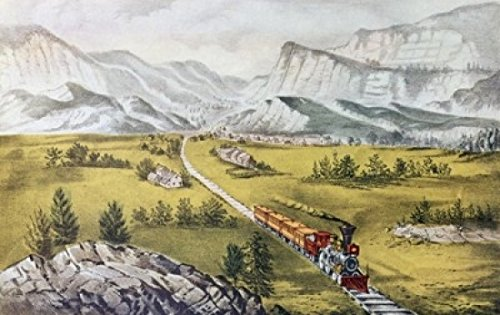 The Great West Currier & Ives (1834-1907 American) Lithograph Poster Print (24 x 36)