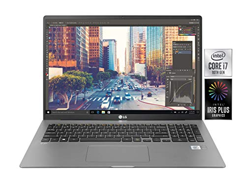 "LG Gram 17Z90N, Display 17"" QHD 16:10 IPS, 2560x1600, Intel Core i7-1065G7, RAM 16GB DDR4, SSD 512GB, Batteria 80Wh (Fino a 17 Ore), Windows 10 Home (64 bit), Tastiera Italiana, Peso 1350 g, Argento"