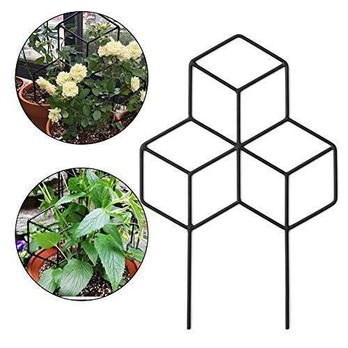 Garden Metall Spalier Gitterform Pflanzengitter, Pflanzenhalter Blumenstütze Rankhilfe Für Kletterpflanzen, DIY Garten Pflanzkübel Gitterspalier Rankgitter Für Kletterpflanzen Blumengemüse Rosenrebe
