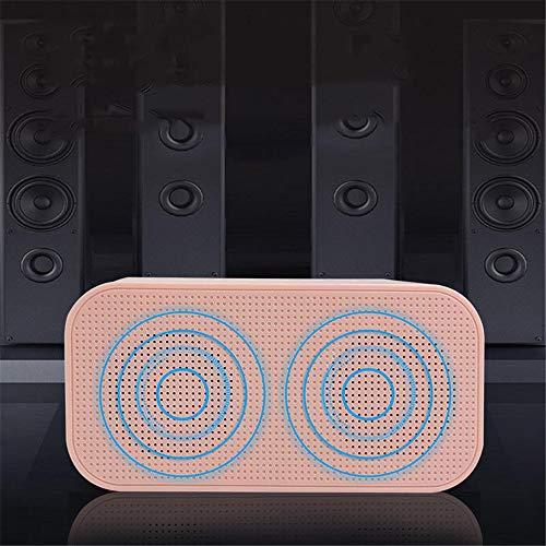 Lpinvin Sveglia Digital Alarm Clock Screen Specchio Bluetooth Speaker Completo LED Specchio Orologio da Tavolo Ora Data Comodino Orologio (Colore : Pink, Size : One Size)