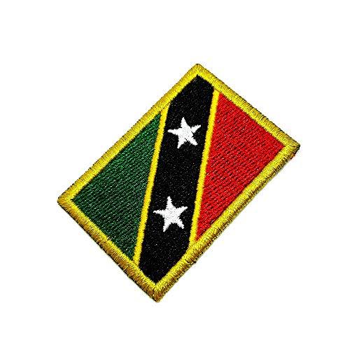 BP0220T 11 BR44 Aufnäher mit Saint Kitts & Nevis Flagge, bestickt, zum Aufbügeln oder Nähen