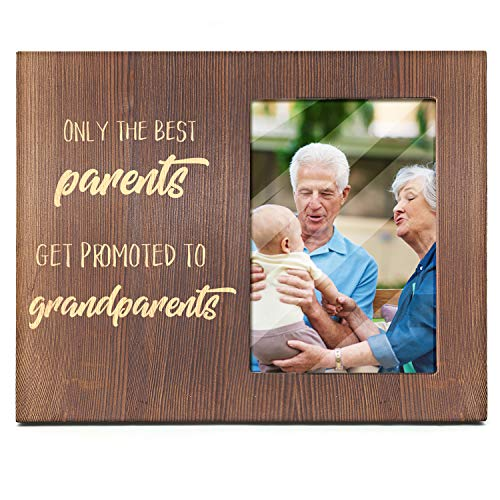 Ku-dayi Only The Best Parents Get Promoted to Grandparents Gift for Grandparents -Ultrasound Picture Photo Frame Baby Announcement Gift for Grandma Grandpa