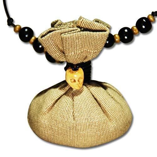Voodoo Ouanga - Schutz - Voodoo Amulett mit Lederband - Mojo Bag