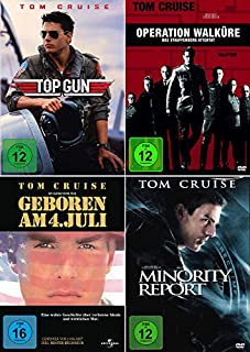 Tom Cruise 4-Filme Collection: Top Gun + In einem fernen Land + Minority Report + Operation Walküre - Das Stauffenberg Attentat