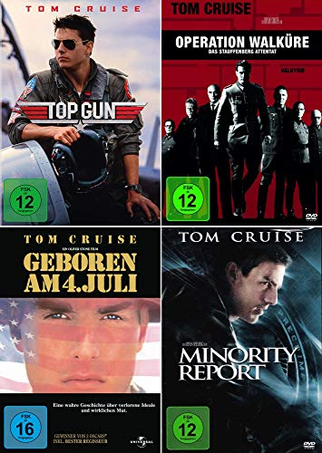 Tom Cruise 4-Filme Collection: Top Gun + In einem fernen Land + Minority Report + Operation Walküre - Das Stauffenberg Attentat [4er DVD-Set]