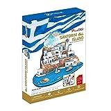 CUCUBA 3D Puzzle Islas De Santorini Grecia 129 Piezas MC062H