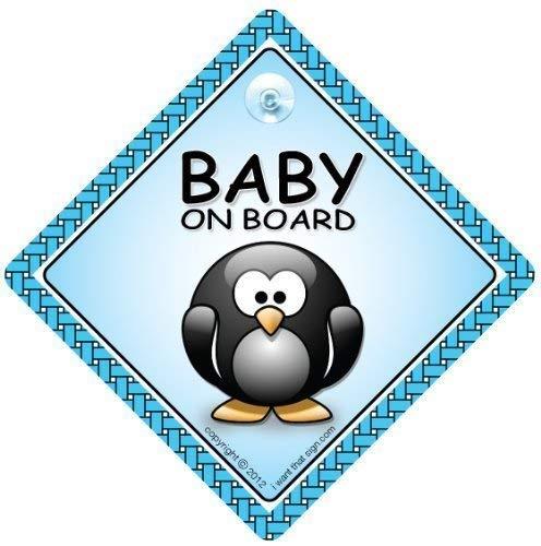 Baby On Board, panneau bébéà bord, Pingouin, Baby on Board, panneau bébé, unisexe Baby on Board, petit-enfant à bord, autocollant, pare-chocs autocollant, Pingouin sur panneau