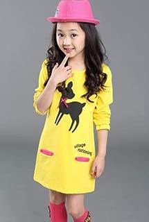 Kids Dress Casual Striped Teen Dress for Girls Long Sleeve Princess Party Dress Girls Children Clothing