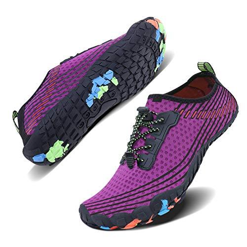 WXDZ Men Women Water Shoes Quick Dry Barefoot Aqua Socks Swim Shoes Pool Beach Walking Running