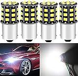 DEFVNSY - Paquete de 4-1156 BA15S 1141 1003 7506 Super Bright White 12-24V DC 2835 33SMD Bombillas LED para Luces de...