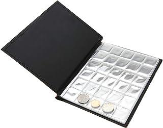 Garosa Álbum de Monedas, Coleccionistas Pequeños Portarrollos de Monedas 250 Bolsillos Colección de 10 Páginas Almacenamie...