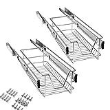 Aufun cajón telescópico extraíble estante para armario estante para cajones...