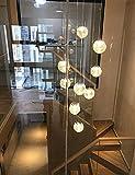 Lámpara de techo escalera de la lámpara, Duplex Long Room Araña, Bola de cristal de la lámpara, Villa giratoria Escalera Loft Araña