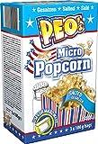 Peo's Micro Popcorn, Gesalzenes Mikrowellenpopcorn im 12er Vorteilspack, 12 x 300 g