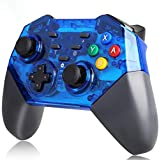 Switch Controller for Nintendo,KINGEAR Switch Pro Controller Remote Gamepad for Nintendo Switch,Wireless Switch Controller with Dual Vibration,Supports Gyro Axis & Turbo Function(Blue)