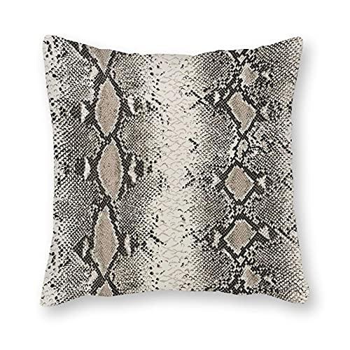 Toll2452 Funda de almohada de serpiente Charmer Cinder Funda de almohada, decoración de sofá, funda de cojín, 61 cm