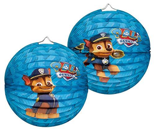 Paw Patrol 1 lanterne/Lampion (rond) env. 25 cm en bleu avec Chase/anniversaire/Décoration