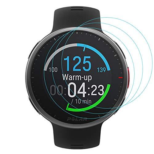 3-Pack for Polar Vantage V2 SMARTWATCH Screen Protector Tempered Glass for Polar Vantage V2 Smartwatch [2.5D 9H Hardness][Anti-Scratch]