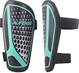 Aufense Soccer Shin Guards for Toddlers Kids - Durable Shin Pads with Adjustable Straps for Ages 2-14 Boys and Girls (Black, XS)