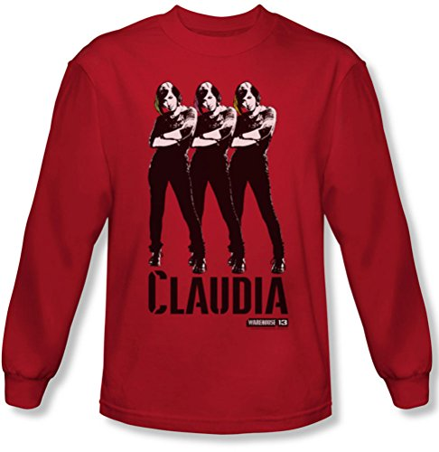 Warehouse 13 - Claudia Tee shirt manches longues pour homme en rouge, X-Large, Red