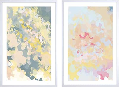 999Store printed abstract water color grey patterns(Canvas_30x36 Inch_Grey) WH2Frames025