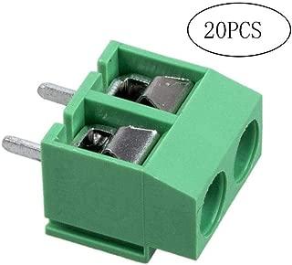 20 PC-2 Audio-Video-Zubeh/ör Pole 5 Mm Rasterma/ß Leiterplattenmontage Schrauben-Klemmenblock-Steckverbinder Adapter 8A 250V