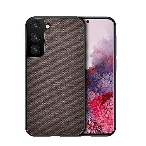 TOPOFU Case for Xiaomi Black Shark 4/4 Pro,Ultra Slim Fabric Grain Design Cover,Premium PC & TPU Shockproof Protective Leather Case for Xiaomi Black Shark 4/4 Pro-Brown