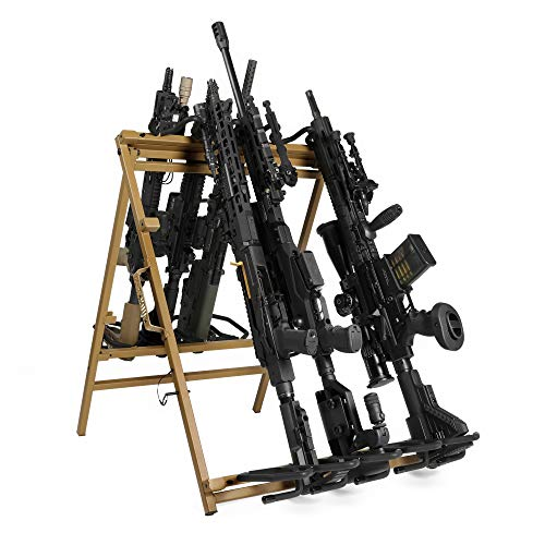 Savior Equipment Portable Folding 9 Gun Free-Standing Rifle...