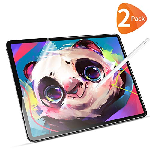 Bewahly Protector Pantalla para iPad Pro 12.9 Pulgadas (2020/2018) [2 Piezas], Ultra Fino Mate Anti-rreflejo Película de Papel, Compatible con Apple Pencil, Escritura o Dibujo